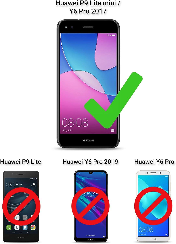 Moozy Coque Silicone Transparente pour Huawei Y6 Pro 2017, Huawei P9 Lite Mini - Anti Choc Crystal Clear Case Cover Étui de Flexible Souple TPU