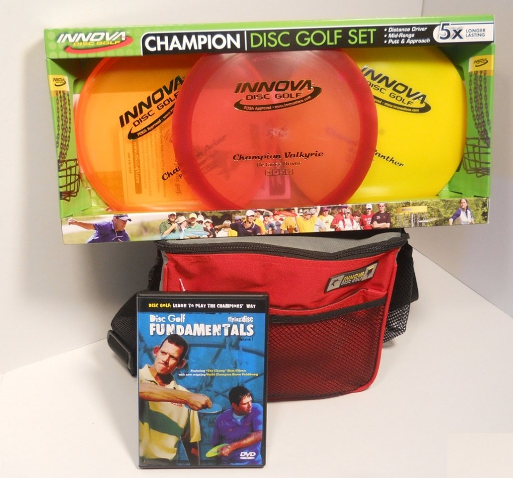 INNOVA Champion Disc Golf Gift Set - Red Bag