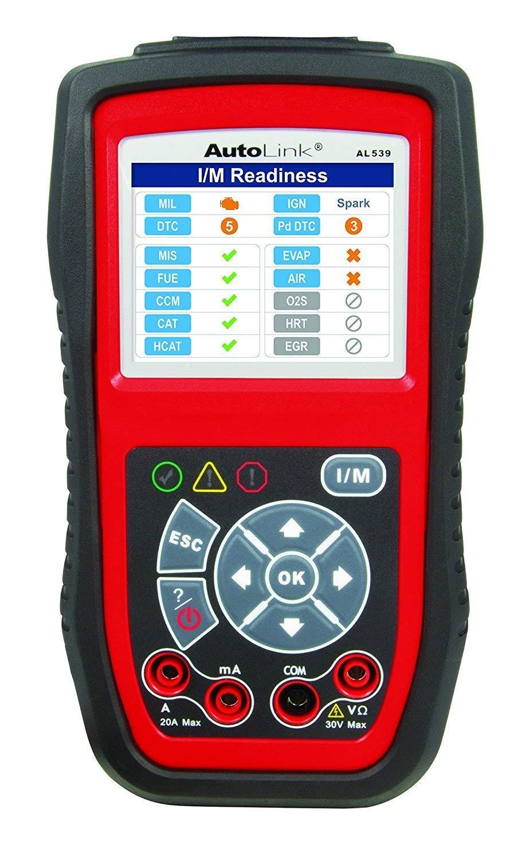 Autel Autolink® AL539 Herramienta de prueba componentes eléctricos y OBDII/CAN con lectura/borrado de códigos de error: Amazon.es: Coche y moto
