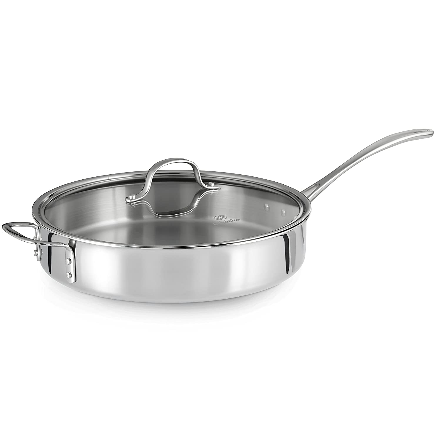Calphalon Tri-Ply Stainless Steel 5-Quart Saute Pan with Cover