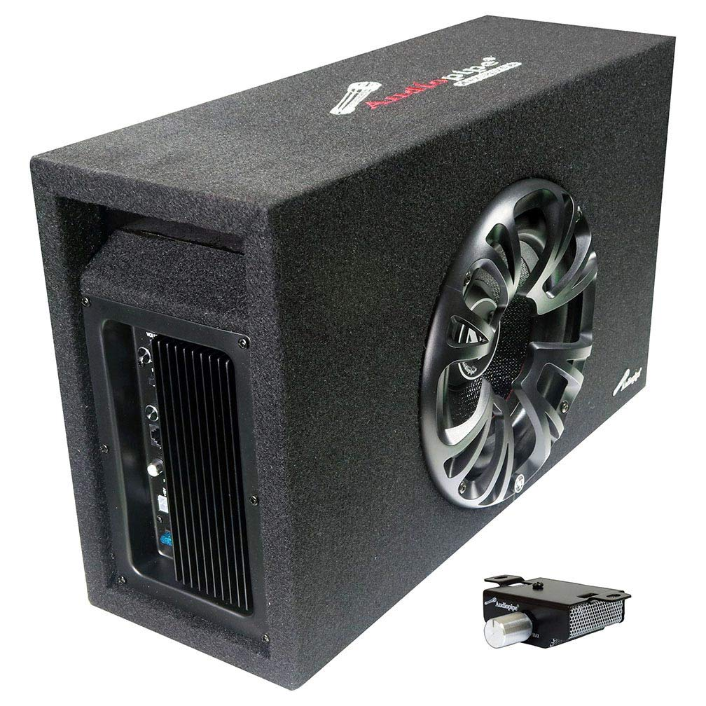 Audiopipe Single 8'' Amplified Ported Bass Enclosure 800 Watts by Audiopipe