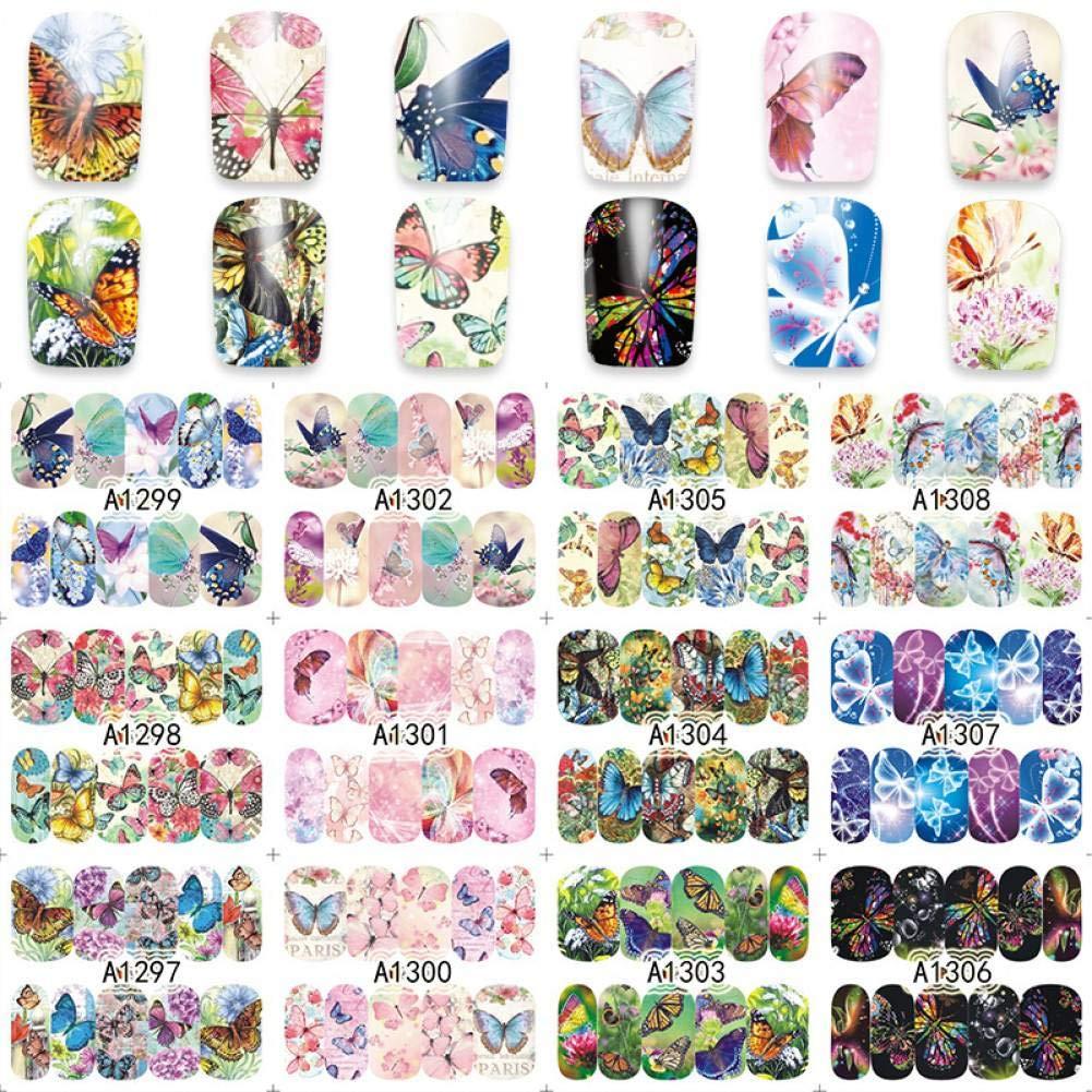 Nxdbh 12 Hojas de Flor Mixta Gato Mariquita, Etc. diseños de ...