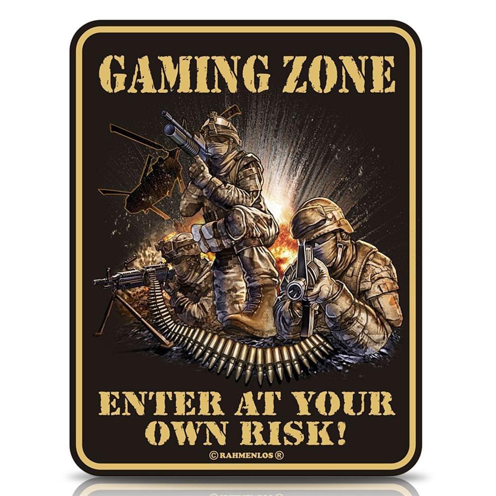 16 x Cartel de chapa Cartel FUN Cartel - Gaming Zona - 17 x ...