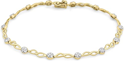 Carissima Gold - Bracelet - Femme - Or jaune (9 cts) 4.22 Gr - Diamant