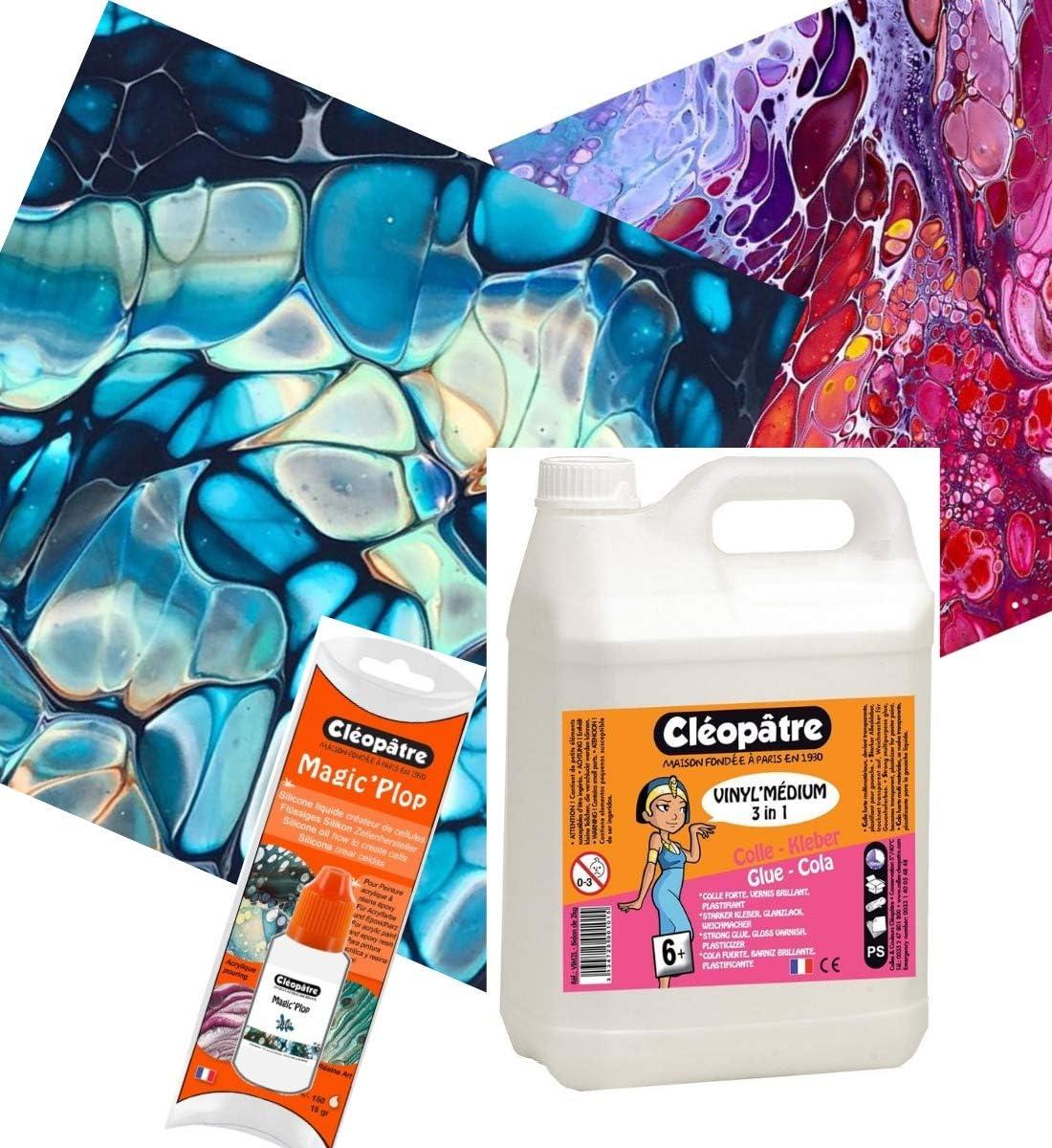 Juego de aceite de silicona de tamaño medio, para Cleopatre Vinyl Medium 2 kg: Amazon.es: Hogar