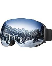 8bf28c8d3a ENKEEO Gafas de Esquí Snowboard VLT 16.87% Lente Anti-Niebla de Dual Capa,