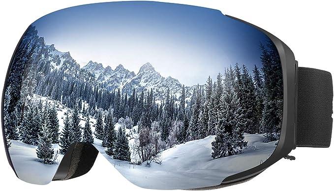116 opinioni per ENKEEO Occhiali da Sci Lente Magnetica Staccabile Doppio Strato Anti-Nebbia