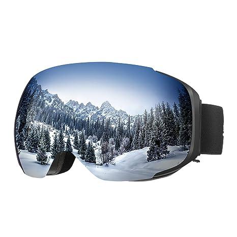enkeeo occhiali da sci  ENKEEO Occhiali da Sci Lente Magnetica Staccabile Doppio Strato Anti ...