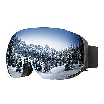 561b1d2a9d ENKEEO - Gafas de Esquí Snowboard Esquiar, VLT 8.59% Lente Anti-Niebla de
