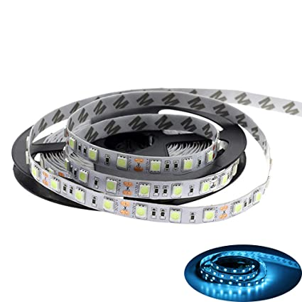 MARSWELL 5M LED Strip Light Ice Blue Color 470nm-490nm Wave Length for Decoration Room