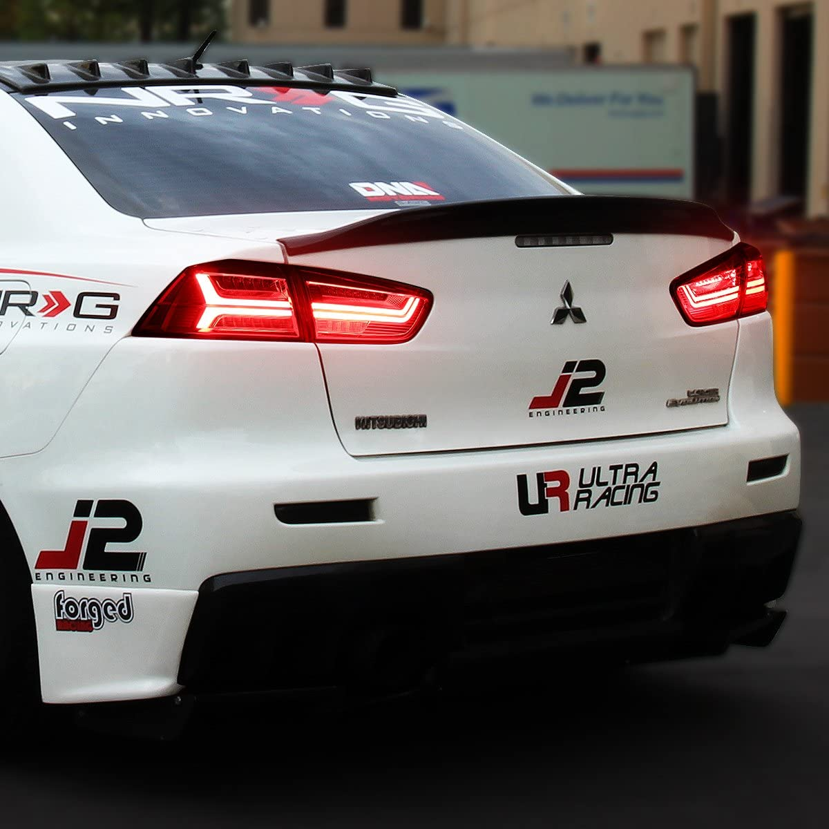 DNA Motoring TL-3D-LED-EVOX-RDCL Sequential LED Turn Signal Tail Light Red 08-17 Mitsubishi EVO X