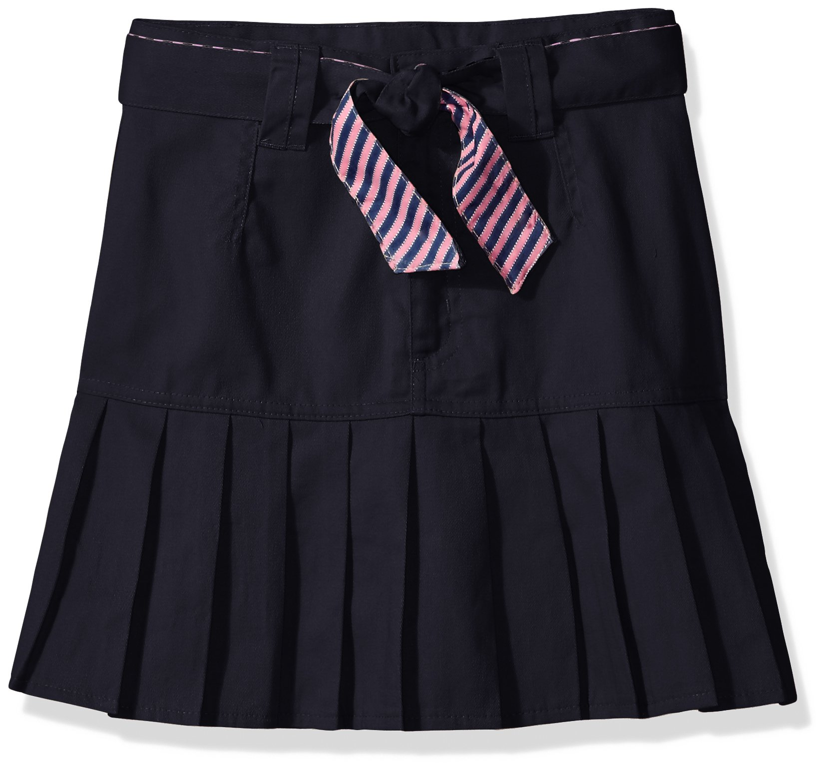 U.S. Polo Assn. Big Girls' Scooter (More Styles Available), Twill Navy-REDF, 8