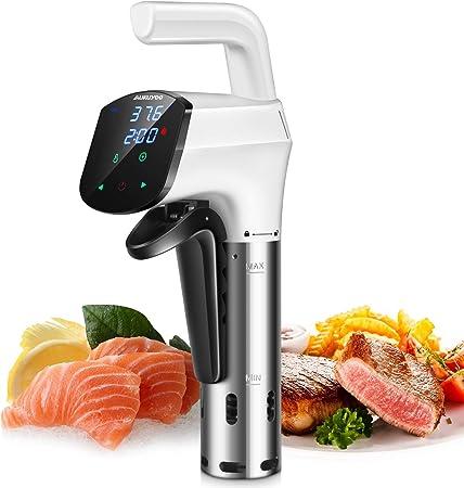 AUKUYEE Sous Vide, 1000W Circulador de Inmersión Térmica de Cocina Pantalla Táctil LCD con Libro de Recetas (TQQ1): Amazon.es: Hogar