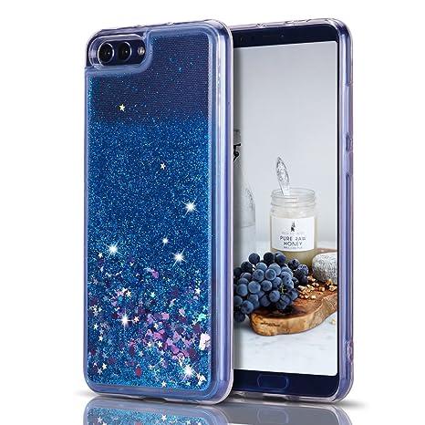 codice promozionale fa3df 89c7c CaseLover Cover Huawei Honor V10, Custodia Honor View 10, 3D Glitter  Liquido Sabbie Mobili Trasparente Morbido TPU Silicone Brillantini Sequin  ...