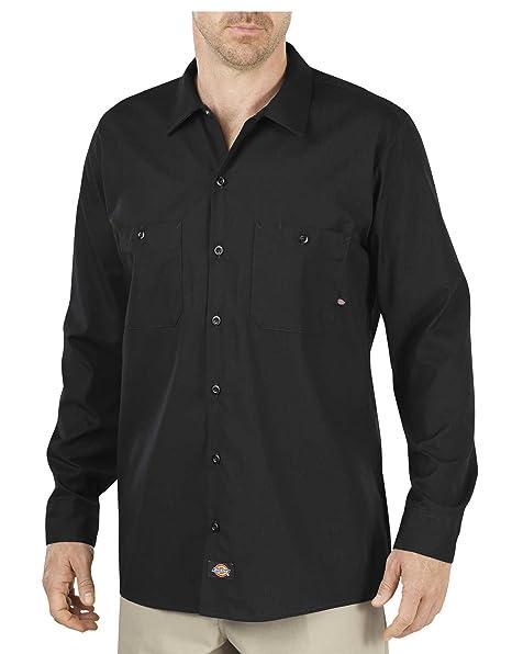 1d68ffc00835 Dickies Occupational Workwear LL535BK 2XLT Polyester/Cotton Men's Long  Sleeve Industrial Work Shirt, 2X