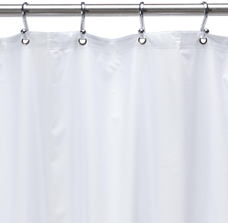 Amazon 54 Inch By 78 Premium Weight Stall Shower Curtain Liner White Home Kitchen
