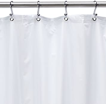 54 Inch By 78 Inch Premium Weight Stall Shower Curtain Liner,