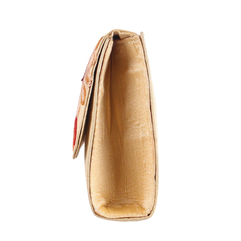 Handmade Womens Cream Floral Clutch Purse Evening bag: Handbags: Amazon.com