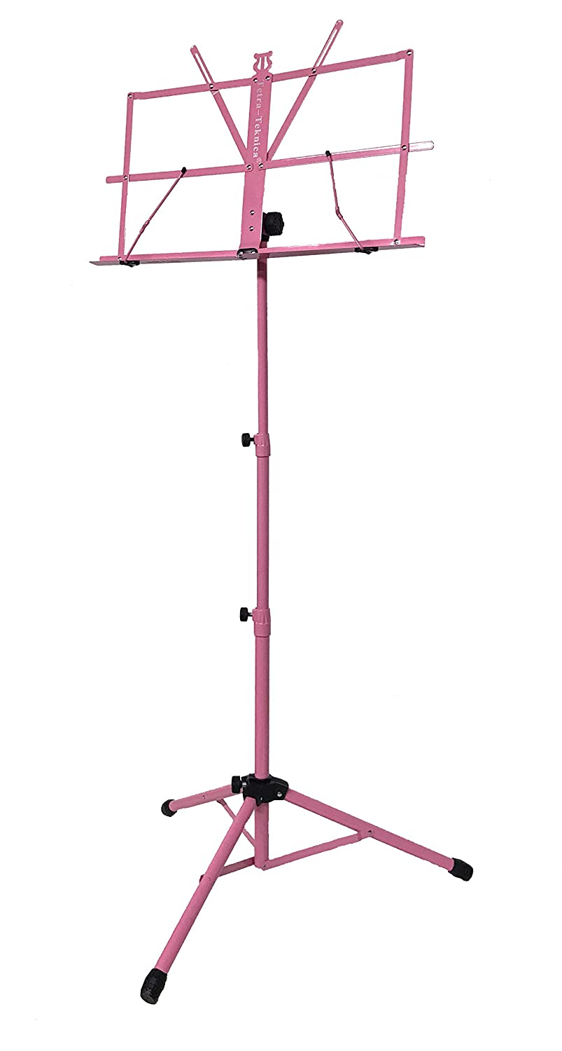 Tetra-Teknica EMS-04-P Portable Folding Sheet Music Stand with Carry Bag, Color Pink SFT Inc.