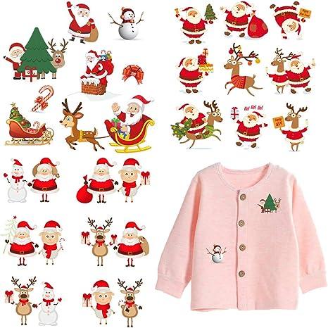 1 BOYS SANTA CHRISTMAS XMAS KIDS IRON ON SEW ON PATCH GIRLS APPLIQUE