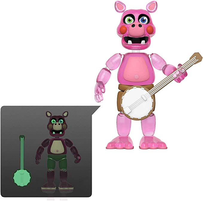Action Figure Funko Friday Night at FreddyS Pizza Sim-Rockstar Foxy-Glow in The Dark Translucent Collectible Toy Multicolor 45638