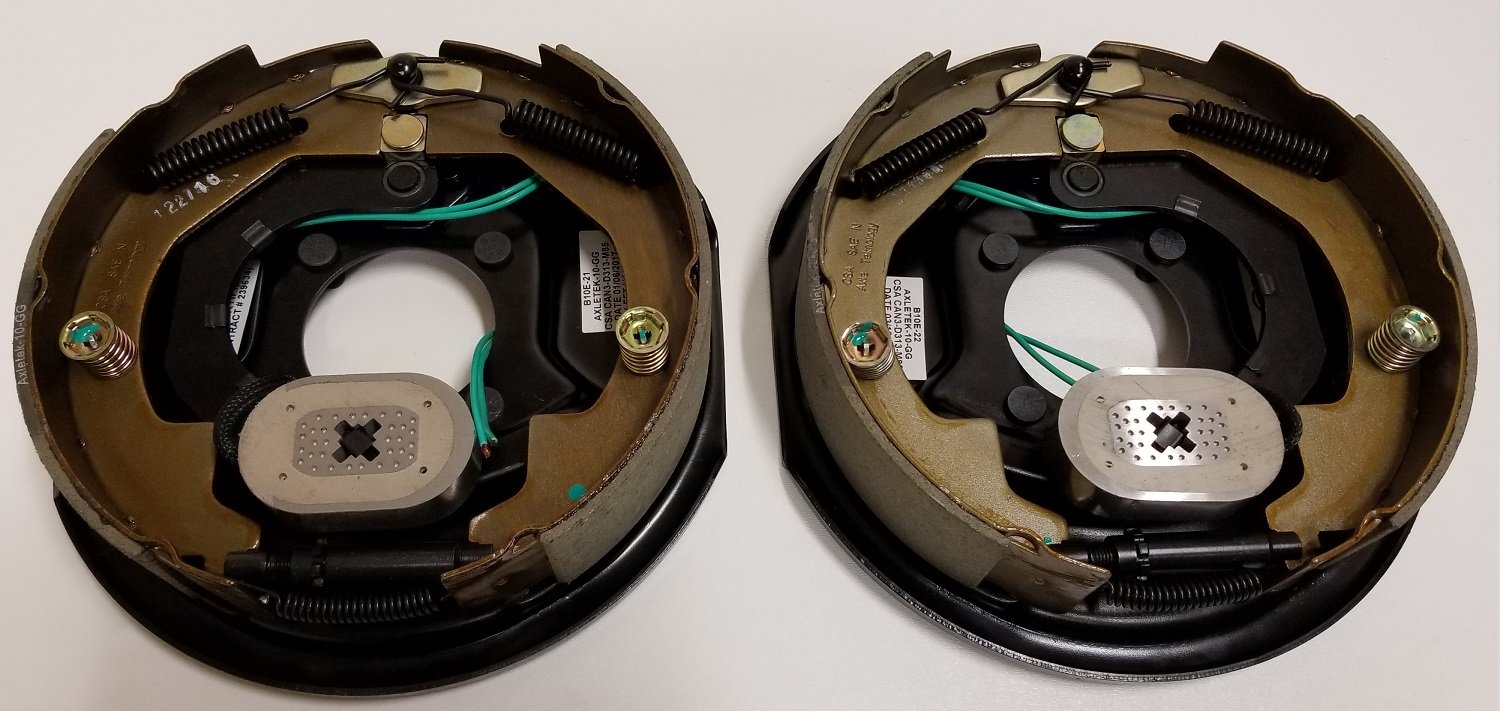 eCustomhitch Two 10'' x 2'' Electric Brake Trailer Backing Plates (Left & Right) by eCustomhitch