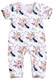 Happy Town Baby Girls Jumpsuit Hoodie Romper Outfit Long Sleeve Creepers Bodysuit Summer Clothes