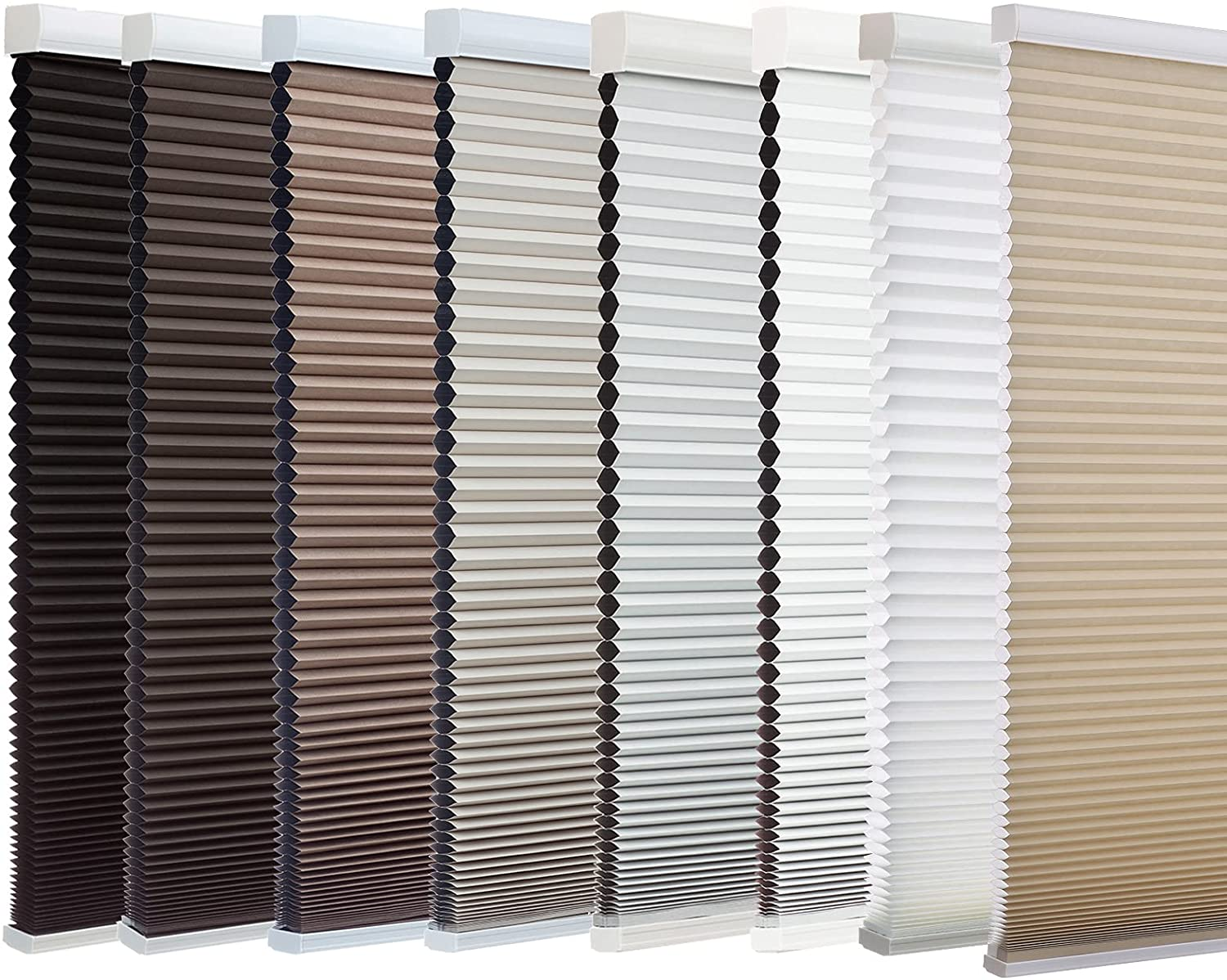 Changshade Cordless Blackout Cellular Shade, No Tools Installation, Honeycomb Shade for Bedroom, Kitchen, Children Room, Room Darkening Pleated Window Shade, 31 inches Wide, Light Brown CEL31LB72A