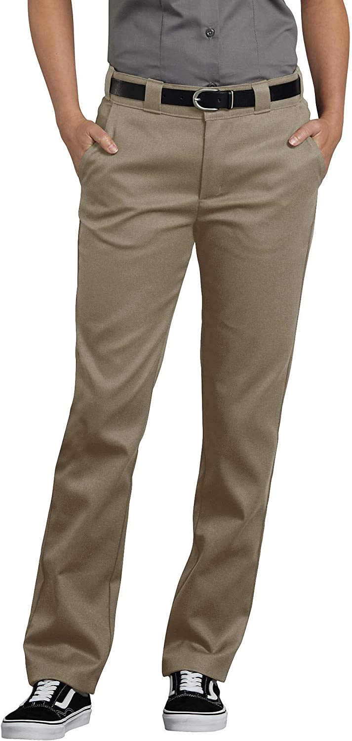 6 dickies Womens Flex Slim Fit Work Pants Desert Sand