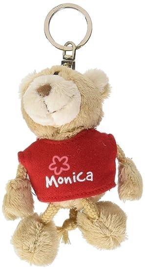 NICI n15828 - Llavero Oso con Camiseta Monica, Rojo: Amazon ...