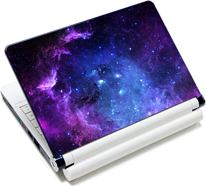 Laptop Stickers Decal,12 13 14 15 15.6 inches Netbook Laptop Skin Sticker Reusable Protector Cover Case for Toshiba Hp Samsung Dell Apple Acer Leonovo Sony Asus Laptop Notebook (Purple Starry Sky)