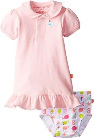 Magnificent Baby-Girls Newborn Polo Dress And Diaper Cover