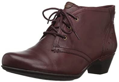 Rockport Cobb Hill Women's Cobb Hill Aria Ankle Bootie, Merlot Leather, ...