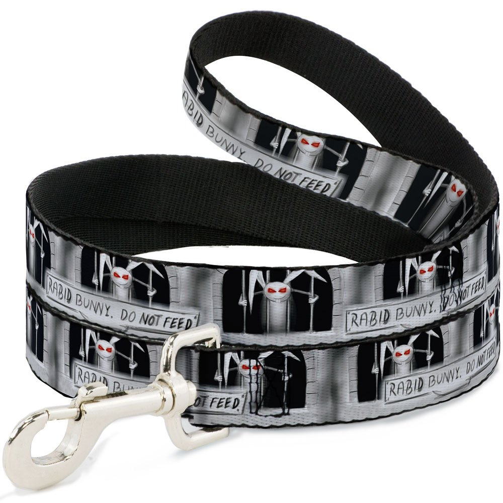 Buckle-Down DL-6FT-W31807 Rabid Bunny Dog Leash, 6'