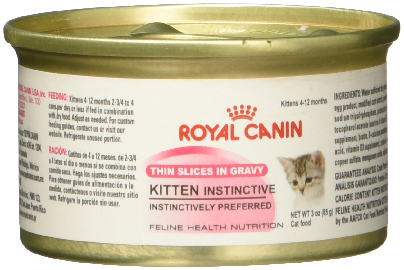 Royal Canin Feline Health Nutrition Kitten Instinctive Thin Slice In Gravy canned cat food