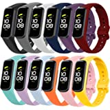 12 Pack Replacement Bands Compatible with Samsung Galaxy Fit 2 SM-R220 for Women Men Classic Waterproof Sport Watch Band Stra