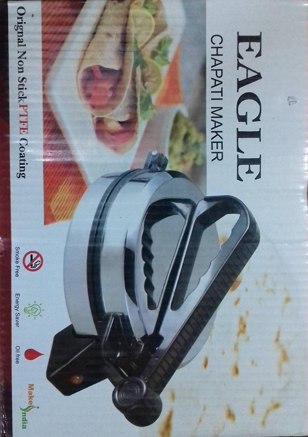 Buy Eagle Easy Roti Maker and Khakra (Silver/Black) by ROYALE HI ...