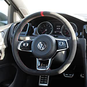 Suede GTI Clubsport funda para volante para Volkswagen Golf MK7 ...