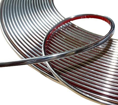 Aerzetix 4mm 4 5m Klebebandstreifen Chrom Nickel Silber Farbe