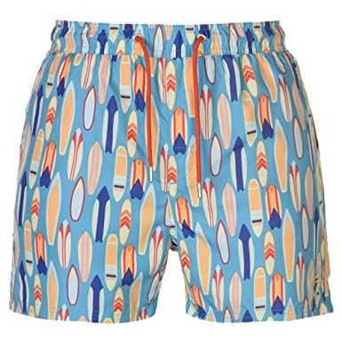 41d77acd26f Pierre Cardin Mens AOP Swim Shorts 2 Side Pockets (Lt Blue Surf, Small)