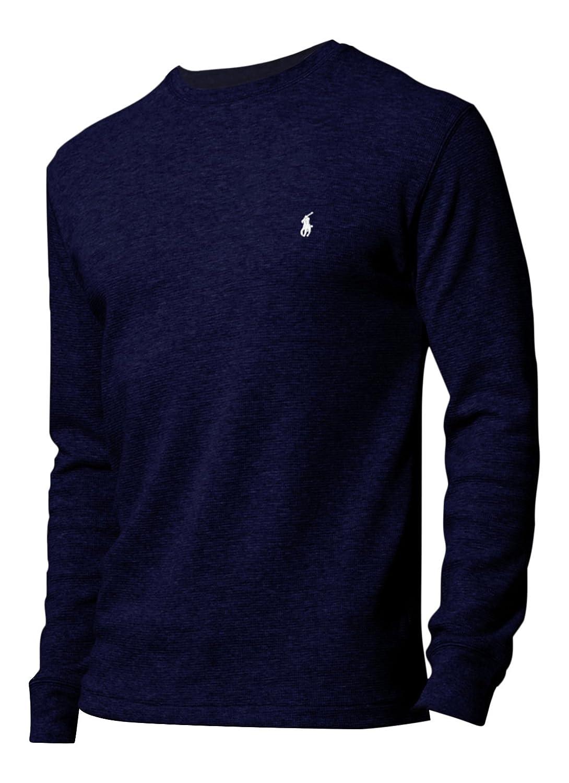 Polo Ralph Lauren Herren/Jungen Lange Ärmel Waffel Knit Thermo T Shirt Gr.  X-Large, Blau - Marineblau: Amazon.de: Bekleidung