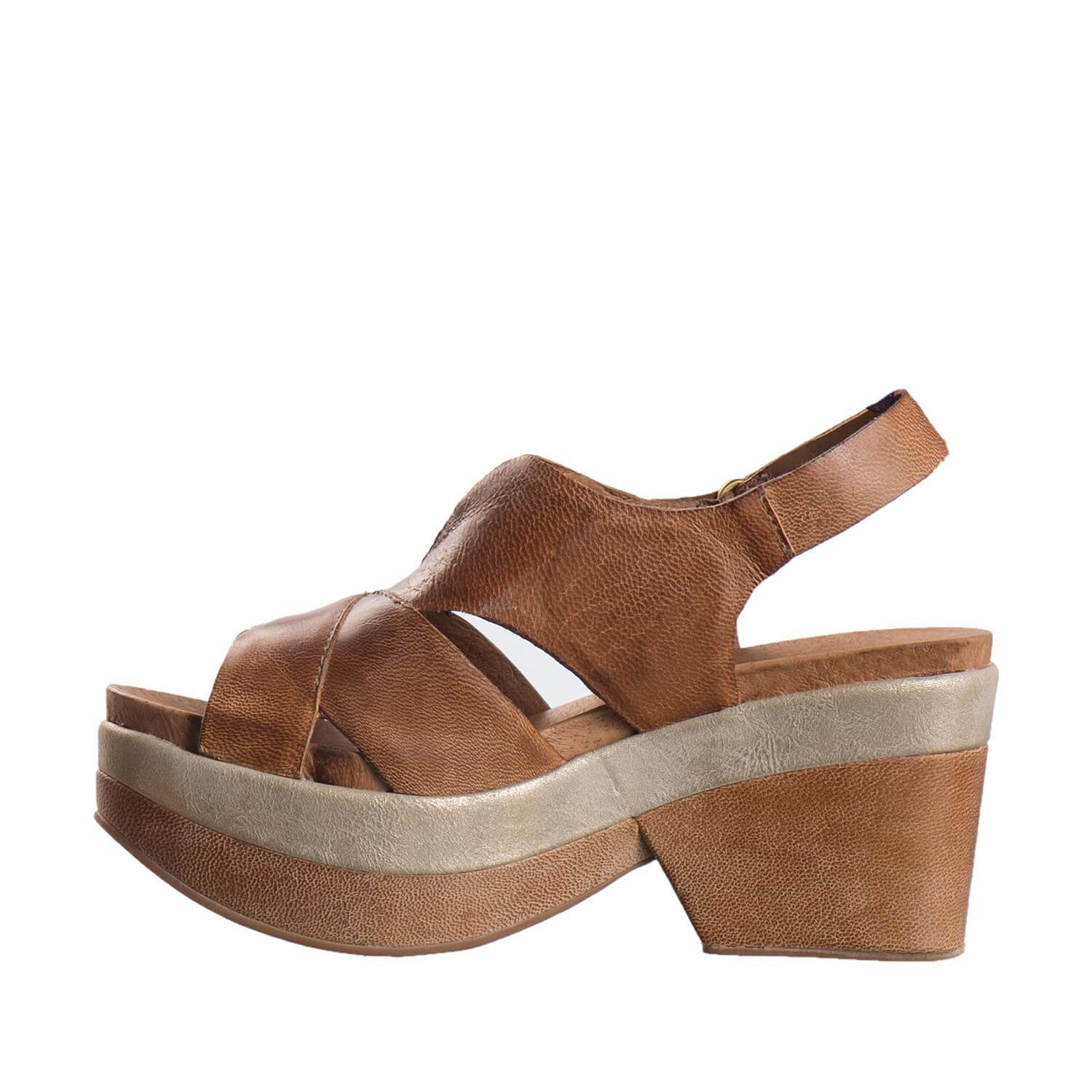 Antelope Women's 708 Leather Banded Cross B079S4PTVG 7 B(M) US / 38 EU|Taupe