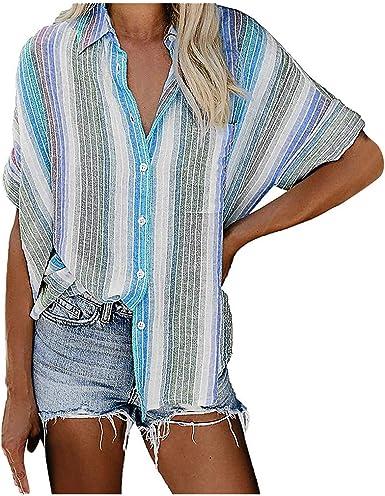 Fossen Blusas y Camisas de Mujer Verano Tallas Grandes a ...