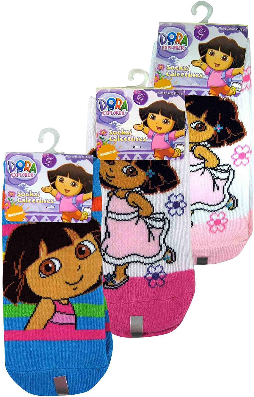 Nick Jr Dora the Explorer Baby Socks Set of 3 Pairs Various Colors