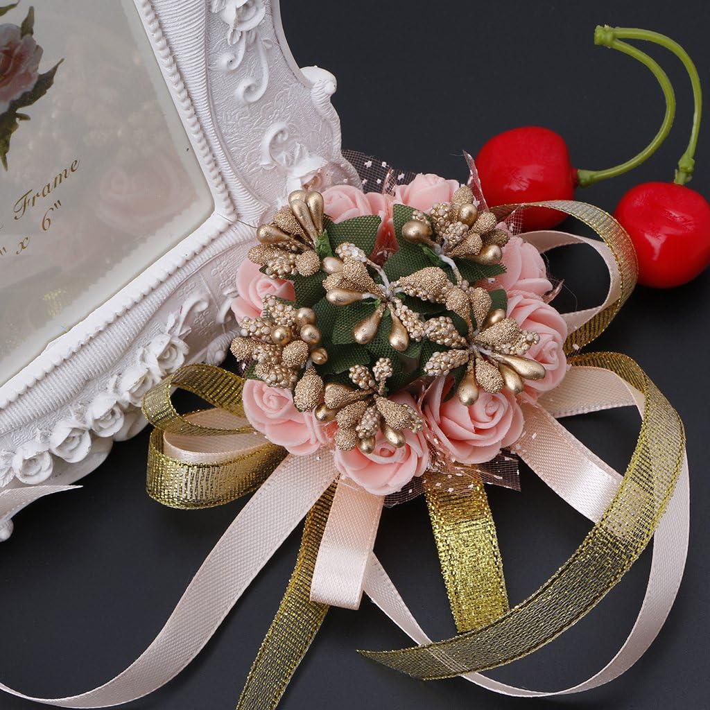 Lamdoo Hermosa mu/ñeca Ramillete Pulsera Dama de Honor Hermanas Flores de Mano Banquete de Boda
