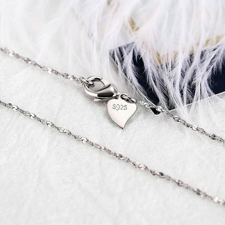 KnSam Damen-Halsketten 925 Sterling Silber Halskette mit Anhänger ...