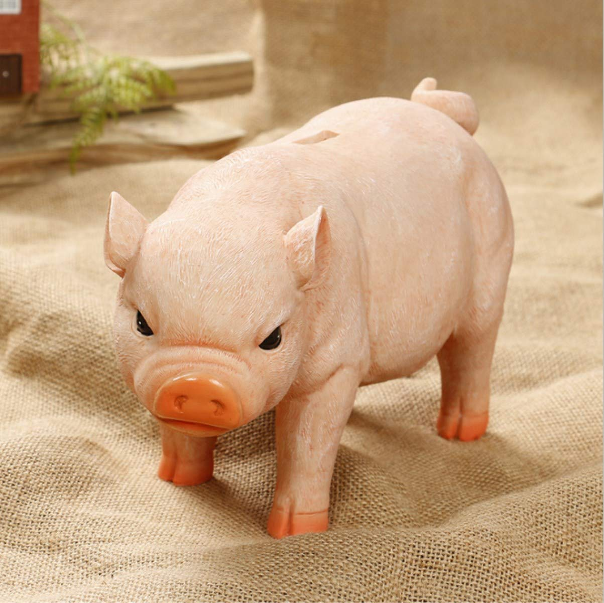 One Pig- Black /& Pink Mixed Estars Large Pig Piggy Coin Money Savings Bank for Quarters Cashes for Birthday Gift
