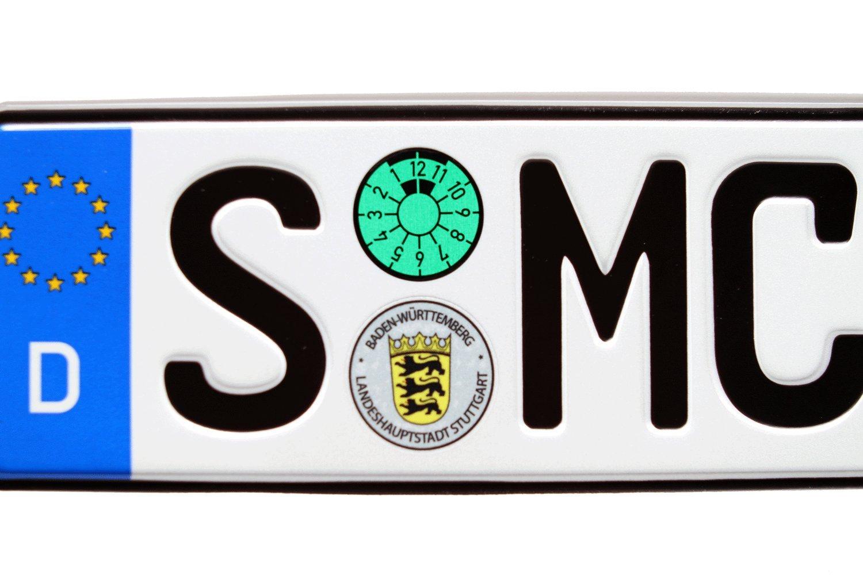 Stuttgart German Euro Plate with Seals Random Characters