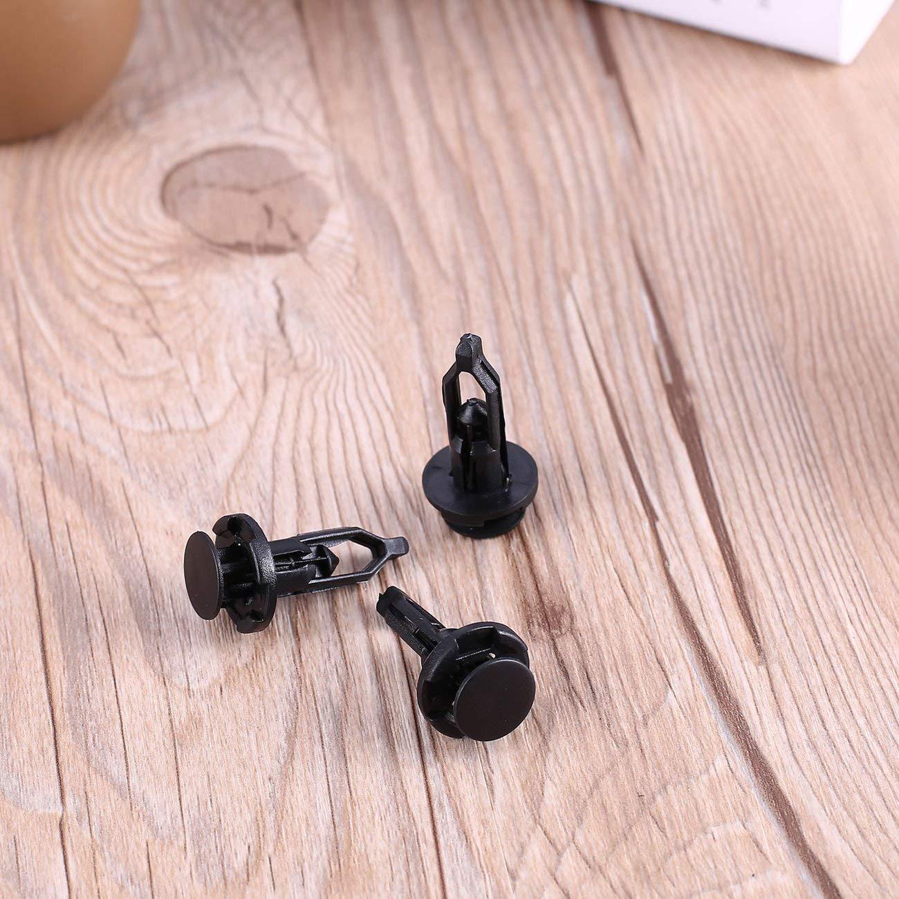 Noir Fixateur LasVogos 30 Pcs Universel 9 mm Diam/ètre du Trou ABS Voiture en Plastique Fender Pare-Chocs Clips de Fixation /à vis expansibles Rivets
