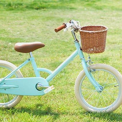 flower205 Cesta De Bicicleta Cesta Mimbre Bicicleta Cesta Tejida para Bicicleta Adecuado para Cestas De Bicicleta para Ni/ños Y Ni/ñas. Color de Madera con Forro